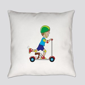 Scooter Boy Everyday Pillow