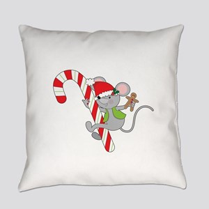 Candy Cane Mouse Everyday Pillow