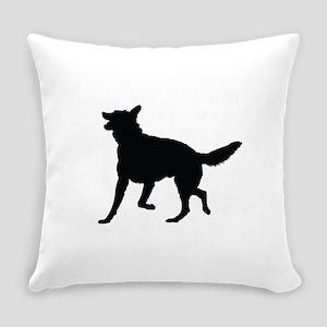 German Shepherd Silhouette Everyday Pillow