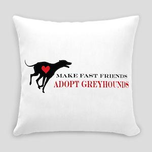 greyhound friend Everyday Pillow