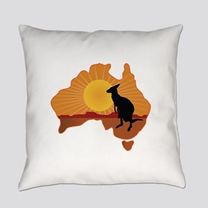 Australia Kangaroo Everyday Pillow