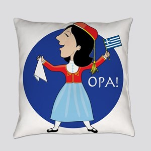 Greek Lady Dancing Everyday Pillow
