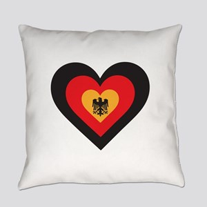 Germany Heart Everyday Pillow