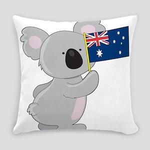 koala australian flag Everyday Pillow