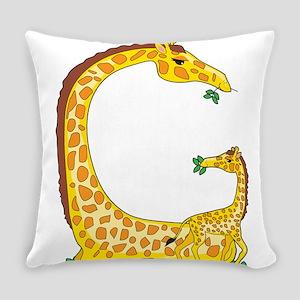 animal alphabet Giraffe Everyday Pillow