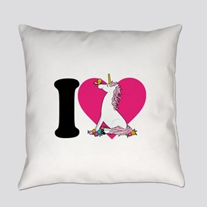 unicorn butterfly cp blk Everyday Pillow