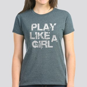 Play Like A Girl Women's Dark T-Shirt