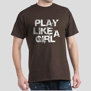 Play Like A Girl Dark T-Shirt
