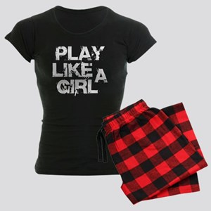 Play Like A Girl Women's Dark Pajamas