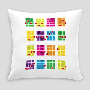 Uke Chords Colourful Everyday Pillow