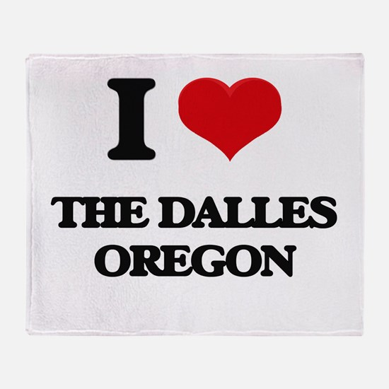 I love The Dalles Oregon Throw Blanket