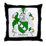 Mallard Family Crest Throw Pillow