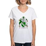 Mallard Family Crest Women's V-Neck T-Shirt