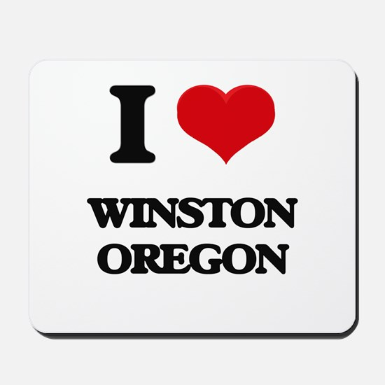 I love Winston Oregon Mousepad