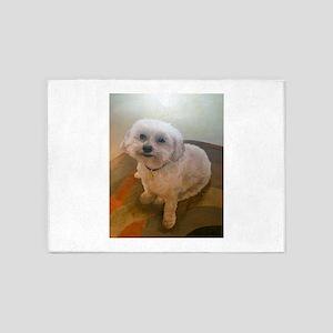 Miniature Poodle Angus 5'x7'Area Rug