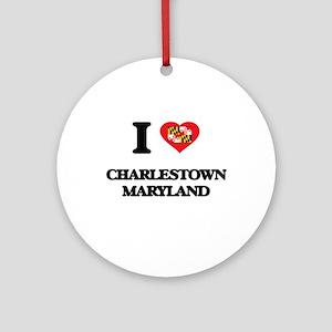 I love Charlestown Maryland Ornament (Round)
