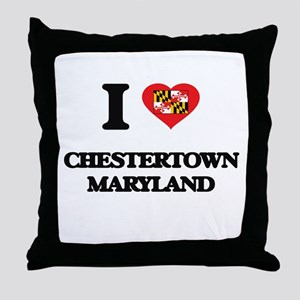 I love Chestertown Maryland Throw Pillow