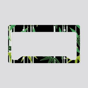 Bamboo (Black) License Plate Holder