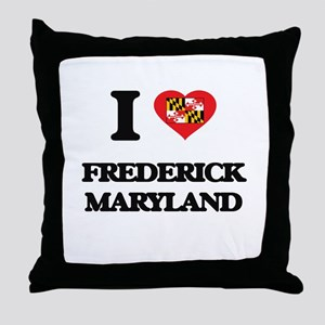 I love Frederick Maryland Throw Pillow