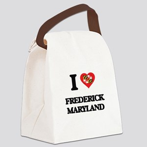 I love Frederick Maryland Canvas Lunch Bag