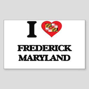 I love Frederick Maryland Sticker