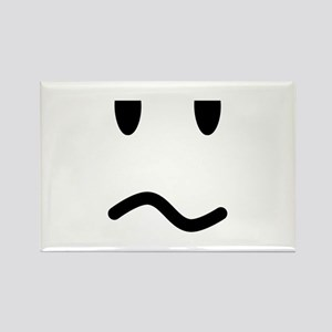 Annoyed Face Rectangle Magnet