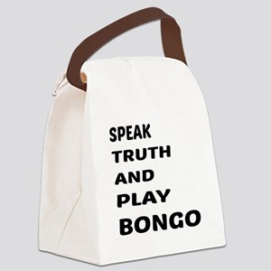 Speak Truth And Play Bongo Canvas Lunch Bag