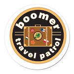 Logo-Transparent Round Car Magnet