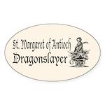 St. Margaret Dragonslayer Lig Oval Sticker