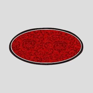 Renaissance Red Tudor Floral Patch