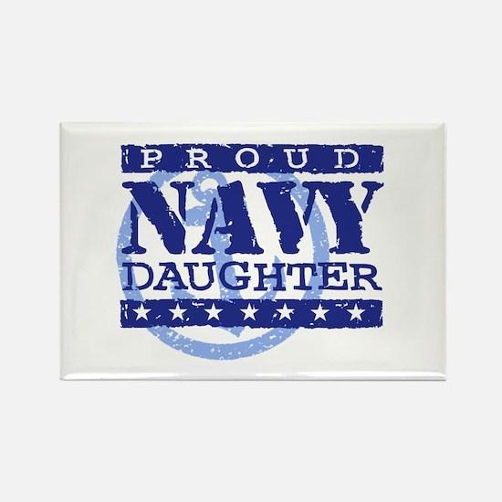 Proud Navy Daughter Rectangle Magnet