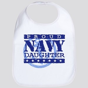 Proud Navy Daughter Bib