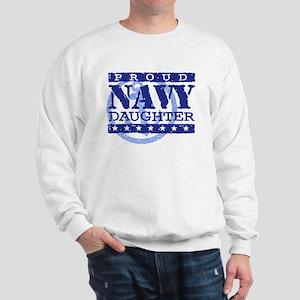 Proud Navy Daughter Sweatshirt