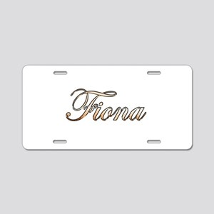 Gold Fiona Aluminum License Plate