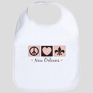 Peace Love New Orleans Bib