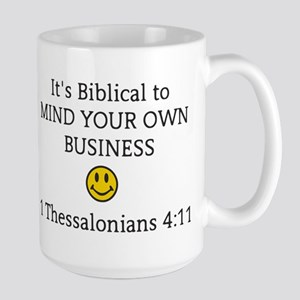 Mind Your Own Business, It's Biblical Mugs