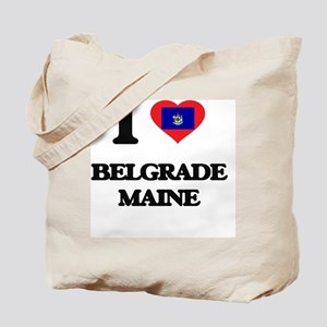 I love Belgrade Maine Tote Bag