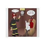 Hells Fire Department Throw Blanket