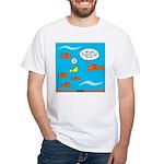 Fish Bathroom Protocol White T-Shirt