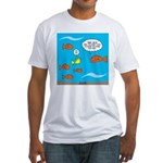 Fish Bathroom Protocol Fitted T-Shirt
