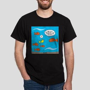Fish Bathroom Protocol Dark T-Shirt