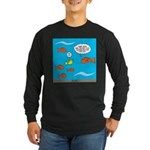 Fish Bathroom Protocol Long Sleeve Dark T-Shirt