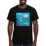 Fish Bathroom Protocol Men's Fitted T-Shirt (dark)