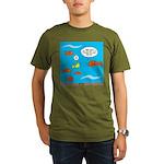 Fish Bathroom Protoco Organic Men's T-Shirt (dark)