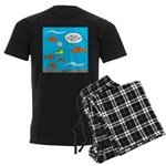Fish Bathroom Protocol Men's Dark Pajamas