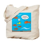 Fish Bathroom Protocol Tote Bag