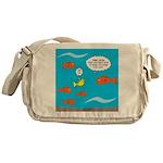 Fish Bathroom Protocol Messenger Bag