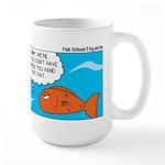 Fish Bathroom Protocol Large Mug