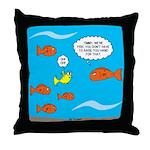 Fish Bathroom Protocol Throw Pillow