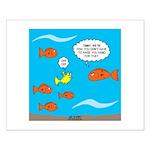 Fish Bathroom Protocol Small Poster